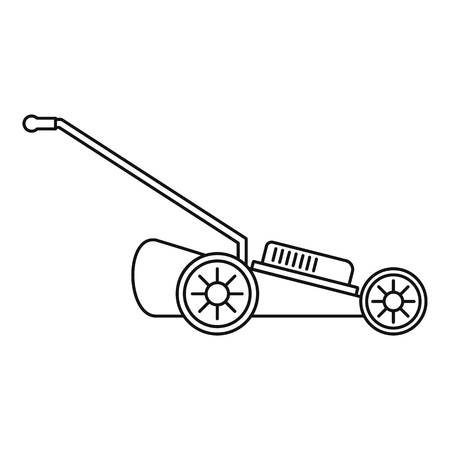 Grass cut machine icon. Outline illustration of grass cut machine icon for web design isolated on white background 스톡 콘텐츠