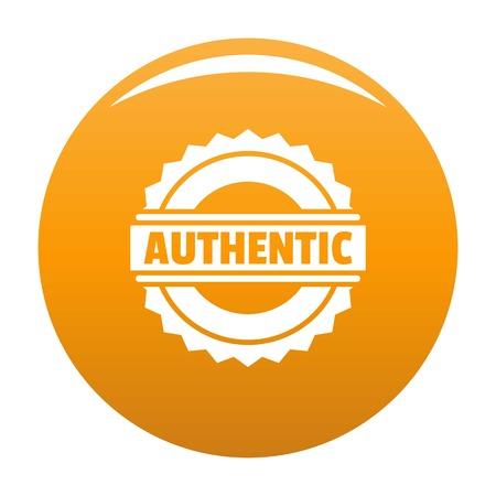 Authentic logo. Simple illustration of authentic logo for any design orange 스톡 콘텐츠