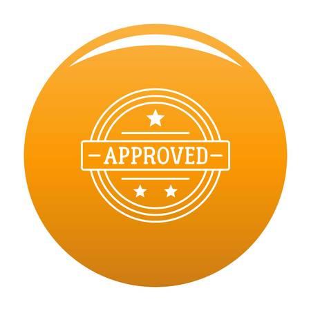 Approved logo. Simple illustration of approved logo for any design orange Stok Fotoğraf