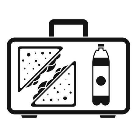Handbag lunch icon. Simple illustration of handbag lunch icon for web design isolated on white background