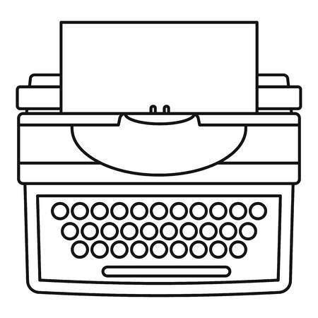 New typewriter icon. Outline illustration of new typewriter icon for web design isolated on white background Stock Photo
