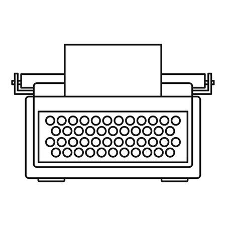 Typewriter icon. Outline illustration of typewriter icon for web design isolated on white background