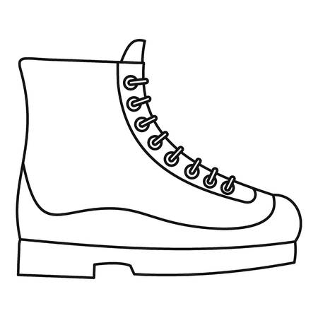 Boots icon. Outline illustration of boots icon for web design isolated on white background Stok Fotoğraf