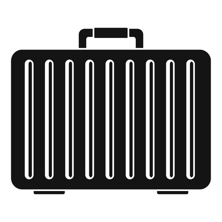 Metal hand bag icon. Simple illustration of metal hand bag icon for web design isolated on white background 免版税图像