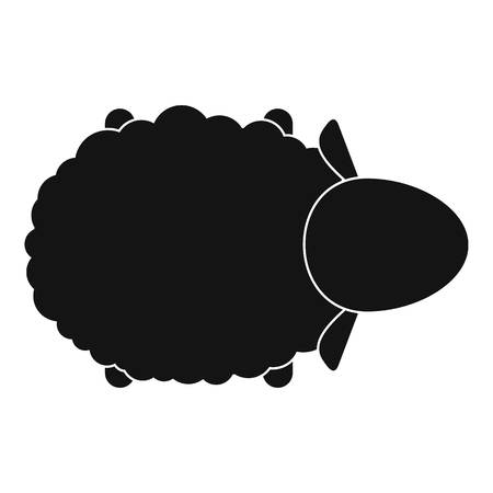 Sheep air view icon. Simple illustration of sheep air view icon for web design isolated on white background Stock Photo