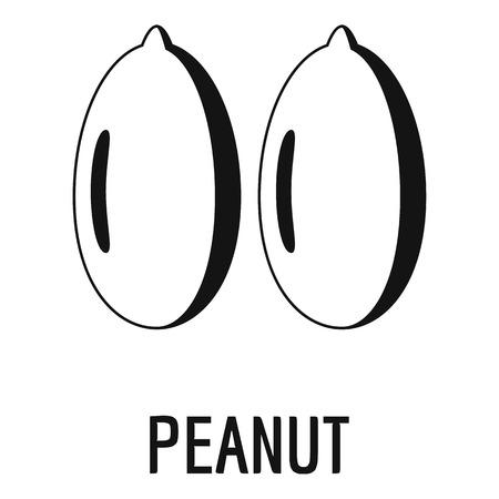 Peanut icon. Simple illustration of peanut icon for web design isolated on white background Stock Photo