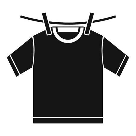 Tshirt dry icon, simple style