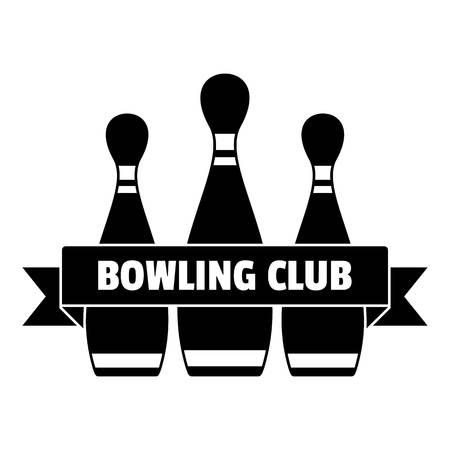 Classic bowling club logo, simple style
