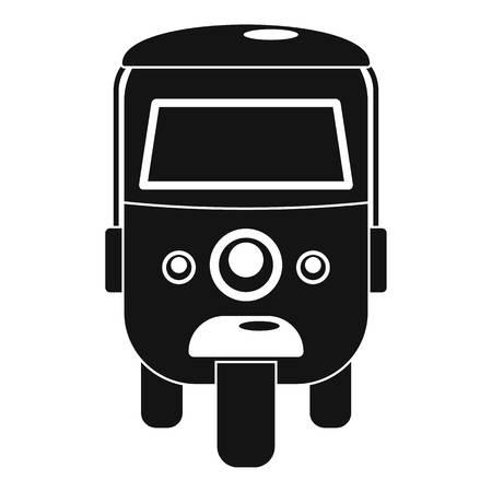 Rickshaw icon. Simple illustration of rickshaw icon for web design isolated on white background