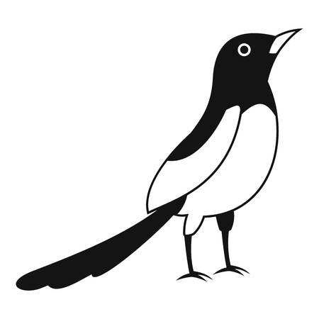 Asian magpie icon. Simple illustration of asian magpie icon for web design isolated on white background