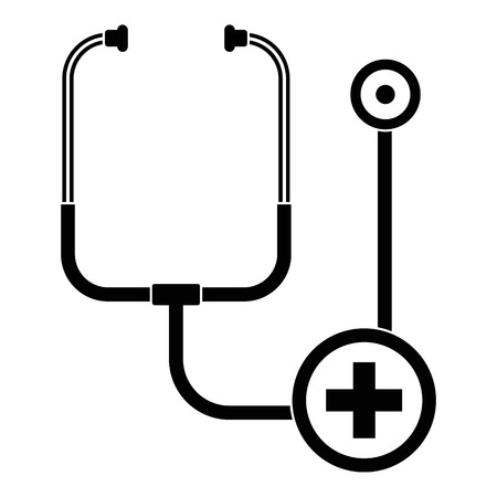 Stethoscope icon, simple style