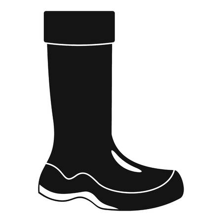 Rubber boots icon. Simple illustration of rubber boots icon for web design isolated on white background