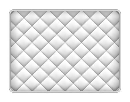 Memory foam mattress mockup, realistic style