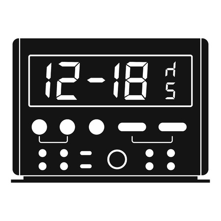 Digital clock icon, simple style