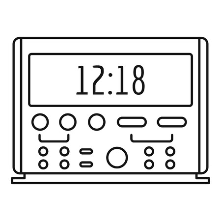 Digital clock icon, outline style