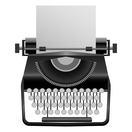Retro typewriter mockup, realistic style