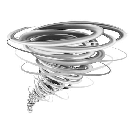Storm tornado mockup, realistic style Banque d'images