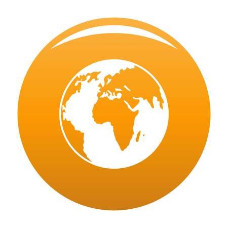 Nuestro planeta icono vector naranja