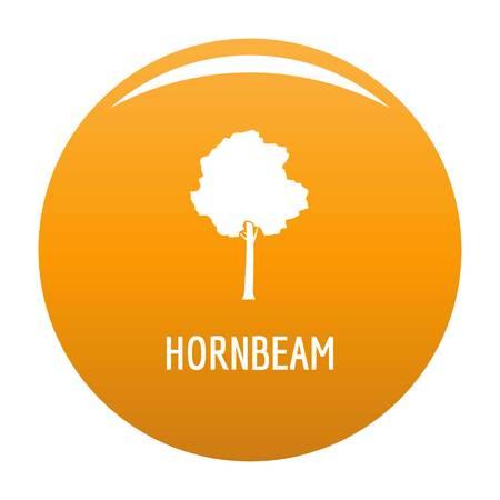 Hornbeam tree icon. Simple illustration of hornbeam tree vector icon for any design orange 向量圖像