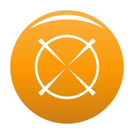 Military radar icon vector orange