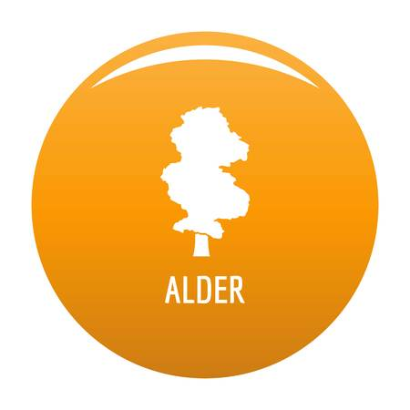 Alder tree icon. Simple illustration of alder tree vector icon for any design orange Illustration