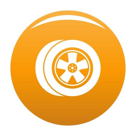 Transport icon vector orange Illustration