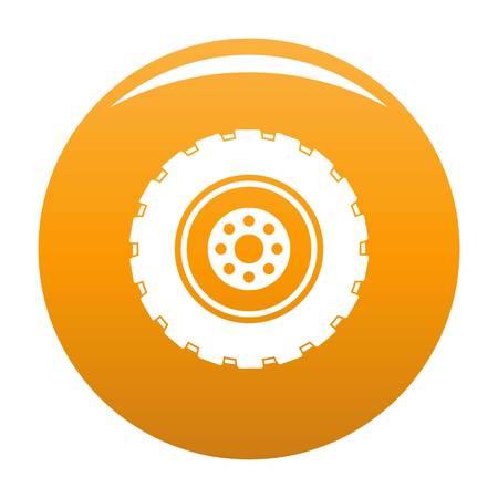 Repairing tire icon vector orange