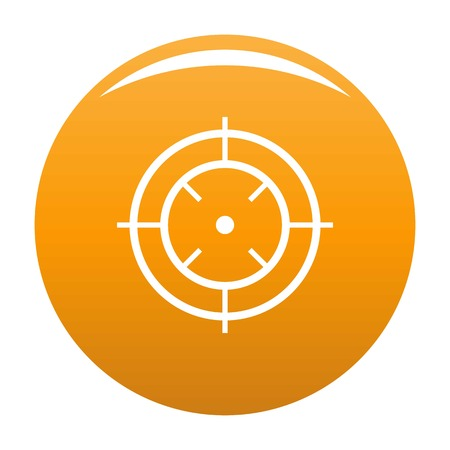 Watching of radar icon. Simple illustration of watching of radar vector icon for any design orange