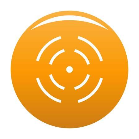 Point radar icon. Simple illustration of point radar vector icon for any design orange