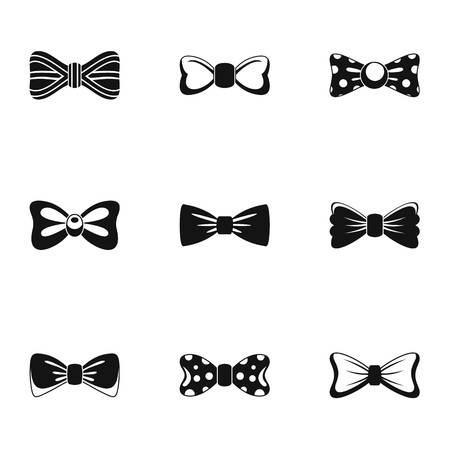 Conjunto de iconos de garganta. Conjunto simple de 9 iconos de vector de garganta para web aislado sobre fondo blanco