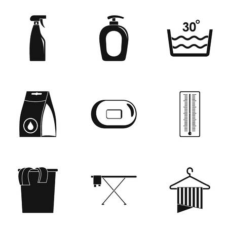 Clean office icons set. Simple set of 9 clean office vector icons for web isolated on white background Vector Illustratie
