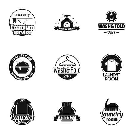 Wash studio icons set. Simple set of 9 wash studio vector icons for web isolated on white background