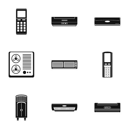 Control equipment icons set. Simple set of 9 control equipment vector icons for web isolated on white background