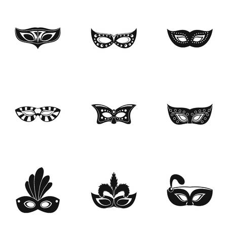 Wildcard icons set. Simple set of 9 wildcard vector icons for web isolated on white background Illustration