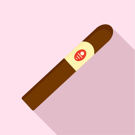 Royale cigar of cuba icon. Flat illustration of royale cigar of cuba vector icon for web design