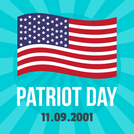 American patriot day background. Flat illustration of american patriot day vector background for web design