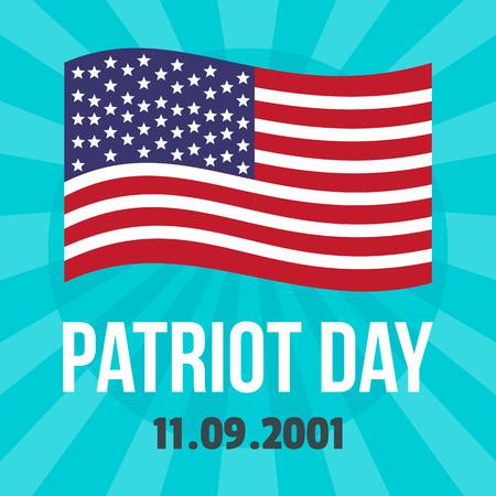 Amerikaanse patriot dag achtergrond. Vlakke afbeelding van Amerikaanse patriot dag vector achtergrond voor webdesign