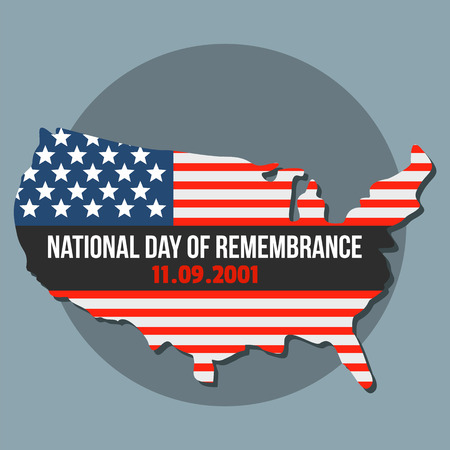 National american day of remembrance background. Flat illustration of national american day of remembrance vector background for web design
