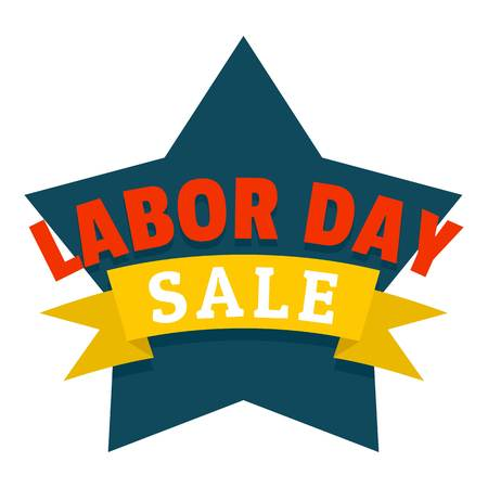 Labor day logo icon. Flat illustration of labor day vector logo icon for web design isolated on white background