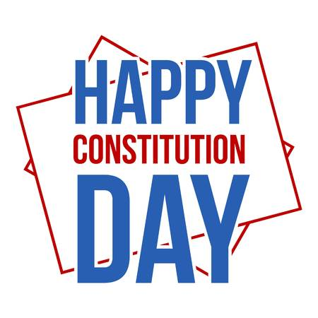 American constitution day logo icon. Flat illustration of american constitution day vector logo icon for web design isolated on white background