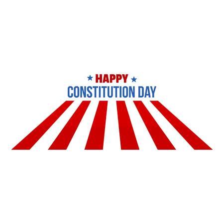 Usa constitution day logo icon. Flat illustration of usa constitution day vector logo icon for web design isolated on white background Illustration