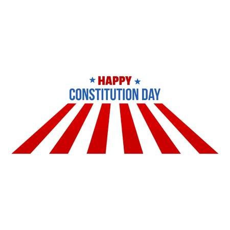 Usa constitution day logo icon. Flat illustration of usa constitution day vector logo icon for web design isolated on white background Stock Vector - 106536277