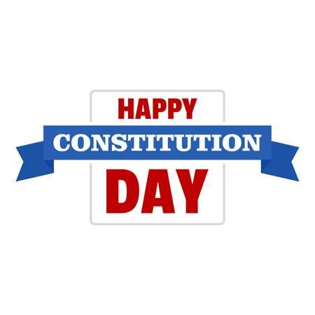 Constitution day logo icon. Flat illustration of constitution day vector logo icon for web design isolated on white background Illustration