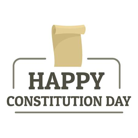 Paper constitution day logo icon. Flat illustration of paper constitution day vector logo icon for web design isolated on white background