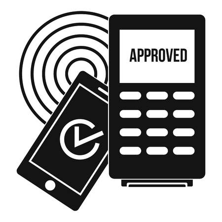 Approved terminal payment icon. Simple illustration of approved terminal payment vector icon for web design isolated on white background