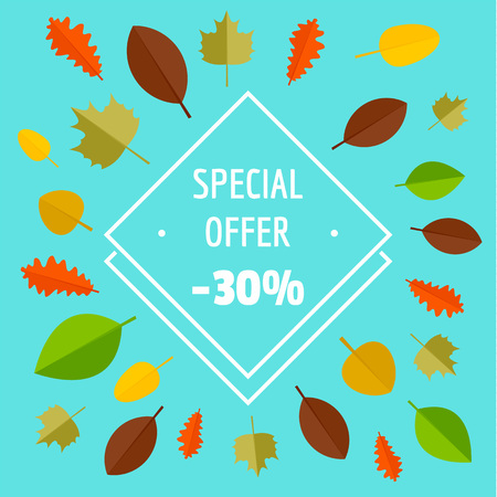 Special offer autumn sale limited background. Flat illustration of special offer autumn sale limited vector background for web design Illustration