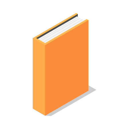 Orange book stand vertical icon. Isometric of orange book stand vertical vector icon for web design isolated on white background 向量圖像