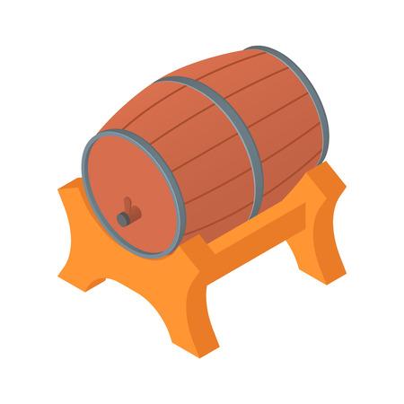 Wood fresh beer barrel icon. Isometric of wood fresh beer barrel vector icon for web design isolated on white background
