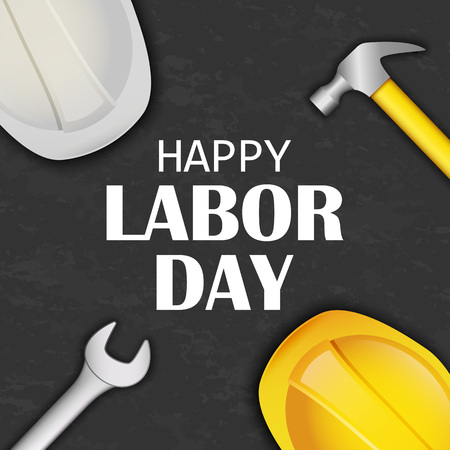 Happy labor day concept background. Realistic illustration of happy labor day vector concept background for web design