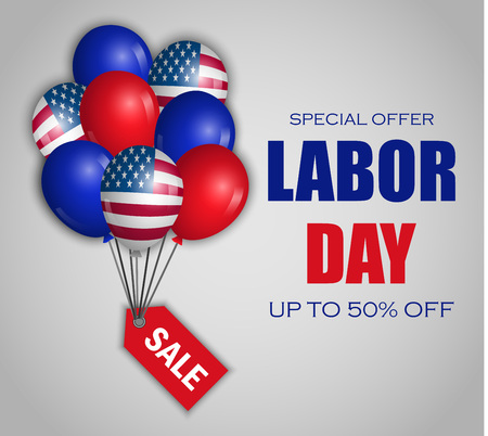 Labor day special sale concept background. Realistic illustration of labor day special sale vector concept background for web design Illustration